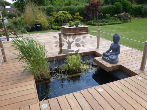 Terrasse bois + bassin