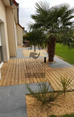 Terrasse bois + céramique